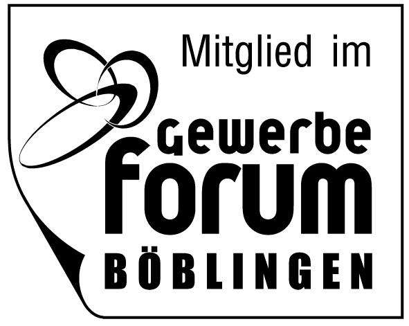 Button: Mitglied im Gewerbeforum Böblingen